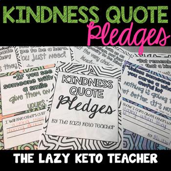 Kindness Quote Pledges
