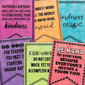Kindness Quotes (Bulletin Boards, Character Ed, Class Decor)