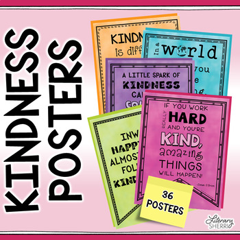KINDNESS POSTERS Class Decor, Character Education, Bulletin Boards