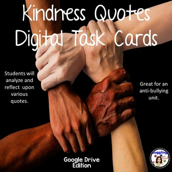 Kindness Quotes Digital Task Cards (Google Drive Edition)