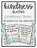 Kindness Quotes Farmhouse Themed Posters Classroom Decor