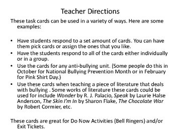 Kindness Quotes Task Cards