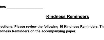 Kindness Reminders