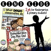 Remembrance Day   Kindness Resources bundle