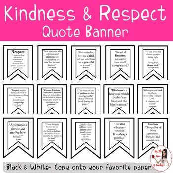 Kindness & Respect Quote Banner