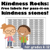 Kindness Rocks: Free Labels for Pass-It-On Kindness Stones