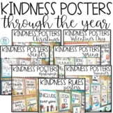 Kindness Rules and Posters For the Year Bundle   Bulletin Board Display