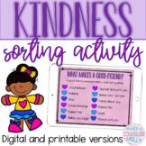 Kindness Sorting Activity, Digital & Printable