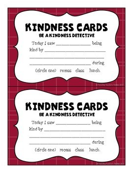 Kindness Task Cards and Quotes