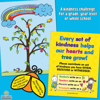 Kindness Tree Activity for Building Whole School Character - US Letter Format