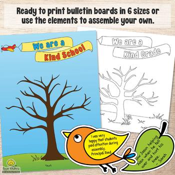 KINDNESS TREE Random Acts of Kindness Challenge Back to School Bulletin Board