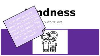 Kindness: Using pictures and beginning sounds in reading POWERPOINT!