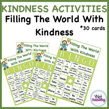 Bucket Filler Activities: Filling My Bucket With Kindness Bingo
