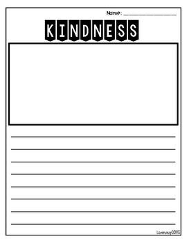 Kindness Writing Paper FREEBIE!!!