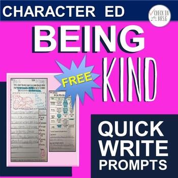 Kindness Writing Prompts Freebie
