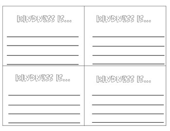 Kindness Writing Slips