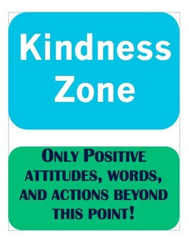 Kindness Zone Poster
