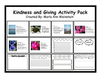 Kindness and Giving Activity Pack