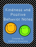Kindness and Positive Behavior Notes