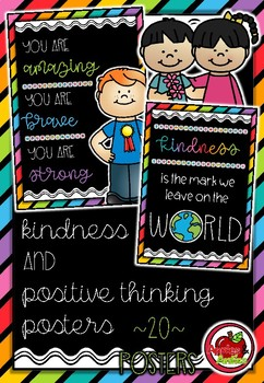 Kindness and Positive Thinking Posters