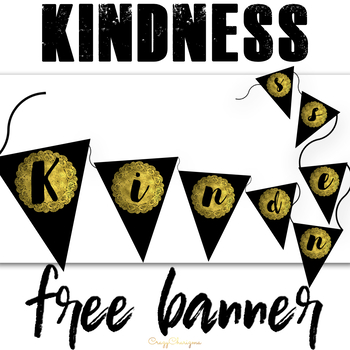 Free Kindness banner and writing