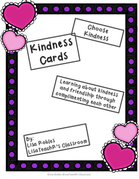 Kindness cards- an activity accentuating positive personal