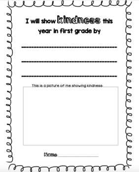 Kindness in First Grade