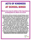 Kindness in School Bingo