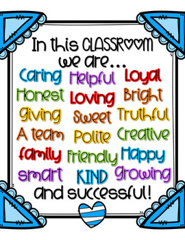 "Kindness in the Classroom Posters (Set of 3) - ""Framed"" and Colorful"