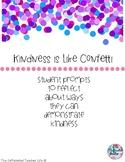 Kindness is like Confetti Writing Prompt Bulletin Board