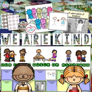 Kindness bulletin board and picture book lessons