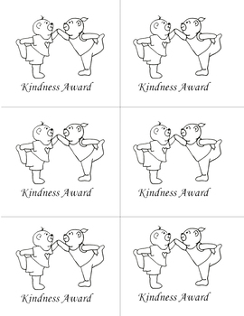 Kindness rewards and coloring in resource for children.