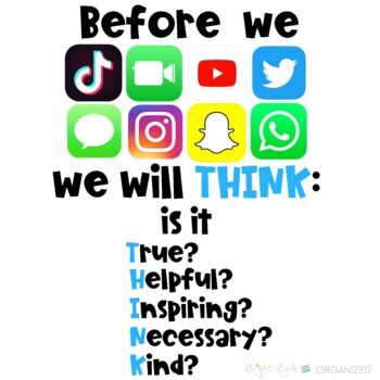 Kindness on Social Media Technology Theme Decoration THINK