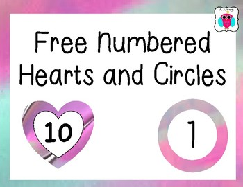 Kindnessnation#  Free Heart and Circle Numbered Labels
