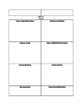 Kindred by Octavia Butler - Vocabulary & Graphic Organizer