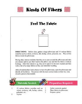 Kinds Of Fibers In Fabrics Lesson