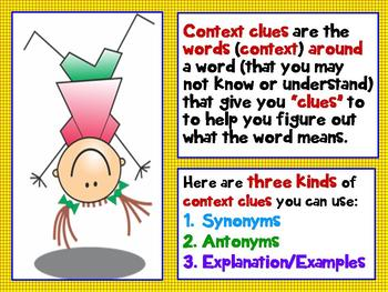 Kinds of Context Clues 3rd Grade Common Core