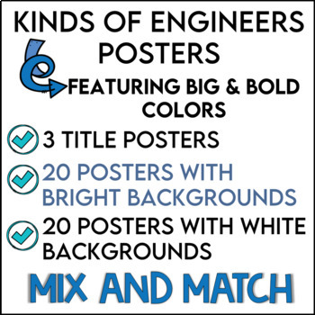 Kinds of Engineers Posters in Big and Bold Colors