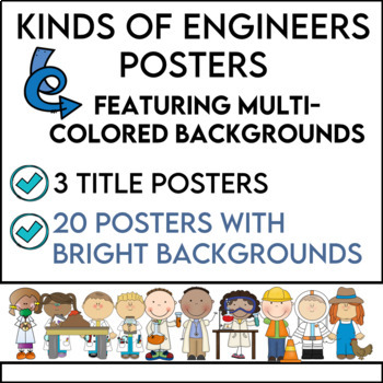 Kinds of Engineers Posters in Multi-Colors