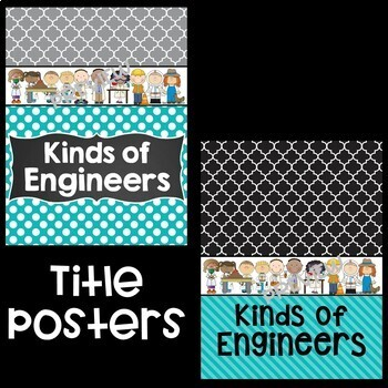Kinds of Engineers Posters in Teal and Black