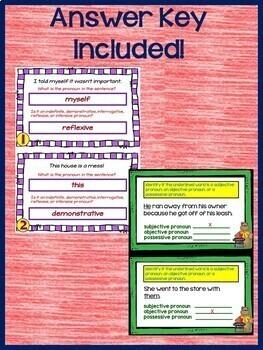 Kinds of Pronouns ELA Grammar Practice for Google Classroom