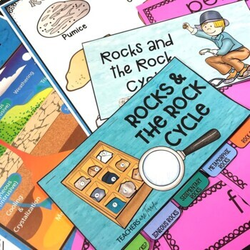 Kinds of Rocks and the Rock Cycle Flipper Book