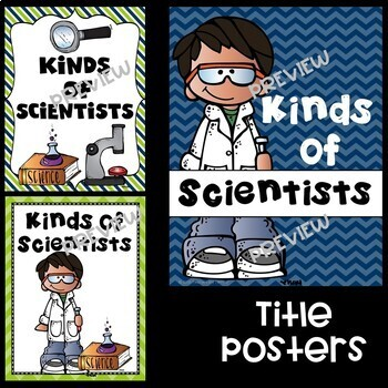 Kinds of Science and Scientists Posters in Lime and Navy