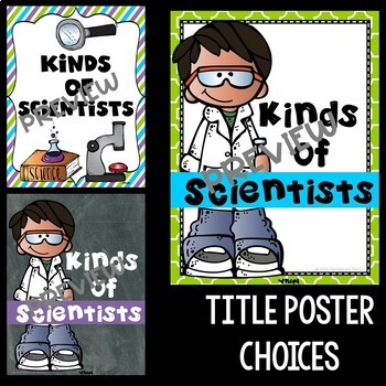 Kinds of Science and Scientists Posters in Purple, Lime, and Turquoise