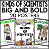 Kinds of Scientists Posters Big and Bold Decor