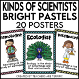 Kinds of Scientists Posters in Bright Pastel Colors