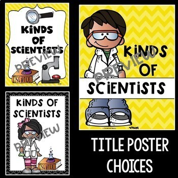 Kinds of Scientists Posters in Yellow and Black