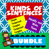 Kinds of Sentences Bundle (Simple, Compound, Complex and C