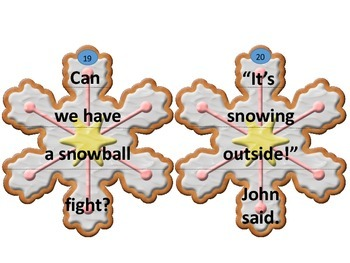 Kinds of Sentences Christmas Cookie Puzzles