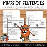 Kinds of Sentences - Declarative, Interrogative, Exclamatory, & Imperative